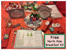 FREE North Pole Breakfast Printable Kit from the Christmas Elf Service