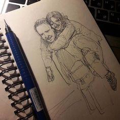 Мой новый карандаш и рисунок на три песни