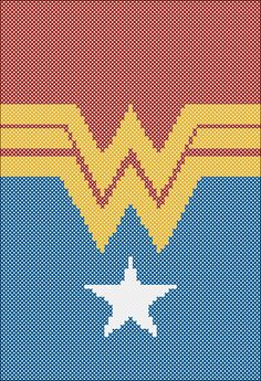BOGO Free! Wonder Woman Logo  -BATMAN vs SUPERMAN  Logo pdf cross stitch pattern  -  pdf pattern instant download #128 by Rainbowstitchcross on Etsy