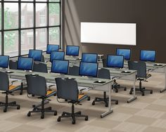 Education today requires technology, so the New Medley Series of computer tables features three wire-management solutions for students and teachers---the CCFL, CCFL-W and CCFL-FT computer tables.