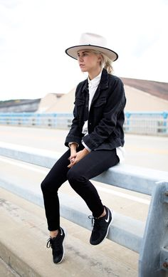@alwaysjudging in #JBRAND's black denim jacket.