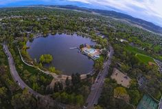 The Fort Collins City Pool looks like a heart ❤️