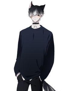 Anime Demon Boy, Hot Anime Boy, Anime Cat Boy, Dark Anime Guys, Manga Boy, Cute Anime Guys, Anime Neko, Yandere Anime, Anime Oc