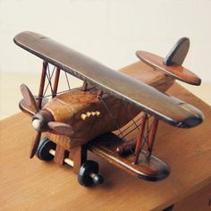 Cheap handicraft, Buy Quality handicraft wood Directly from China Suppliers:Vintage Toys Airplane Model Wood Handcraft Plane Aircraft Home Decoration Handicraft Wooden Airplane, Wooden Toy Cars, Airplane Toys, Wood Toys, Airplane Nursery, Diy Holz, Vintage Wood, Diy Woodworking, Rustic Wood