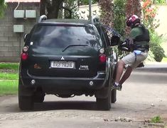 Hanging Off The Side of the Car Rig #diyfilmmaking