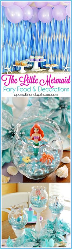 The Little Mermaid party food and decor ideas