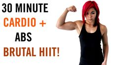 30 Minute BRUTAL Cardio + Abs HIIT Workout - YouTube