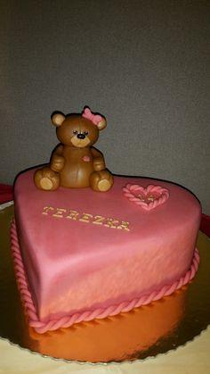 Heart & Teddy Bear cake