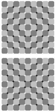 Ilusion optica de figuras geometricas