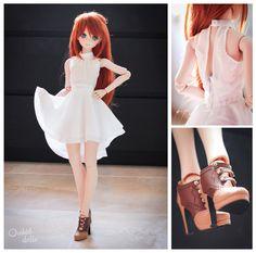 http://on.fb.me/1PWwDaQ   Today's outfit #elegant #fashion Melocotón (custom Dollfie Dream Sister M.O.M.O.)