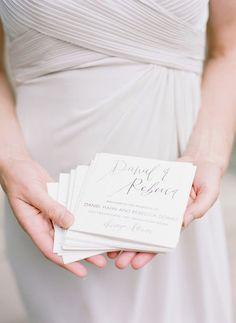 Handwritten Calligraphy Wedding Programs by ParrisChicBoutique