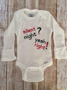 Baby Christmas onsie Christmas onsie by LiveInTheMomentGifts