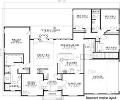 Neo-Traditional 4 Bedroom House Plan - 59068ND | 1st Floor Master Suite, CAD Available, Corner Lot, Den-Office-Library-Study, PDF, Ranch, Split Bedrooms, Traditional | Architectural Designs