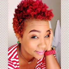 Love her red curly twa