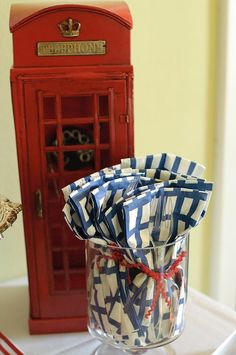 """London Calling""- A British Themed Birthday Bash via Kara's Party Ideas"
