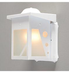 Quirky Modern White Enamel Porch Lantern - back porch?