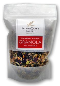 Flour Craft Bakery Cranberry Almond Granola - lots of gluten free goodness in one bag & it's locally made!
