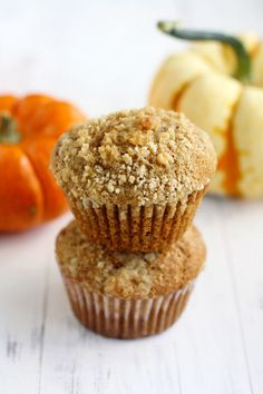 Pumpkin Muffins with Streusel Topping | 27 Insanely Delicious Recipes You Won't Believe Are Vegan