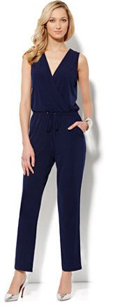 New York & Co. Sleeveless Jumpsuit on http://stylecom.shopstyle.com