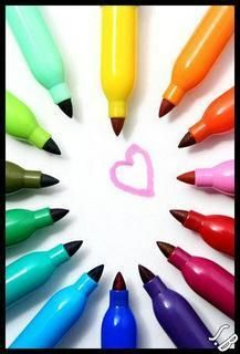 colored sharpies