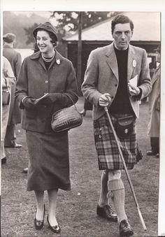 Princess Alexandra of Kent and Lord Angus Ogilvy in Scotland 1956