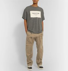 Fear Of God Belted Pleated Cotton-twill Cargo Trousers In Neutrals Style Men, Men's Style, Work Wear, Khaki Pants, Trousers, Mens Fashion, Beige, God, Outfit