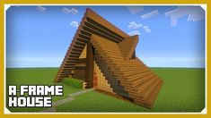 Minecraft: How To Build An A Frame House Tutorial (Easy Survival Minecra...