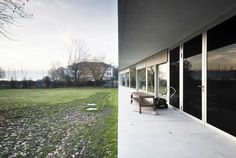 Completed in 2010 in Zurich, Switzerland. Images by Radek Brunecky. The house for a family is prominently situated at the Lake of Zurich. It is set away from the shore of the lake, with a mandatory distance of Concrete Architecture, Windows, Gallery, Outdoor Decor, House, Home Decor, Park, Architecture, Decoration Home