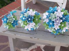 Items similar to Origami Wedding Paper Flower Package - Made to Order - Kusudama on Etsy Easy Paper Flowers, Paper Flowers Wedding, Giant Paper Flowers, Paper Flower Tutorial, Wedding Paper, Origami Flower Bouquet, Origami Wedding, Flower Packaging, Flower Template