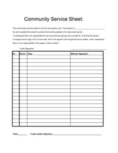 community service time log community hour sheets search projects to try 18991 | 081ce9a4676feb301d6b5a08d1bc1ae5 service projects community service