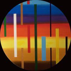 FASCE SU DISCO - d. 82 cm, legno, acrilico (wood, acrylic), 2009