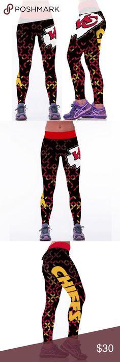 3D NFL Kansas City Chiefs Football Printed Fitnes High Waist 3D NFL Kansas City Chiefs Football Printed Fitness Yoga Gym Team Sports Leggings Pants Leggings