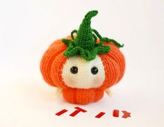 Halloween Pumpkin Doll - knitting pattern on LoveKnitting