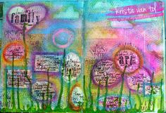 Art Journal page using Faber-Castell Design Memory Craft Gelatos and india ink pens.