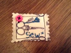 Love Sewing Ravioli Brooch by LeicsCraftCentre on Etsy