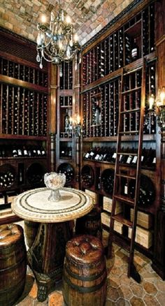 Amazing wine cellar.  LOVE THIS!