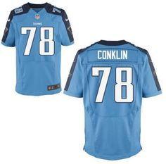 Tennessee Titans #78 Jack Conklin Light Blue Elite 2016 Draft Pick Jersey