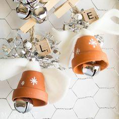 Muslin and Merlot: Terra Cotta Christmas Bells! Muslin and Merlot: Terra Cotta Christmas Bells! Christmas Clay, Christmas Crafts For Kids, Homemade Christmas, Christmas Projects, Simple Christmas, Holiday Crafts, Crochet Christmas, Holiday Wreaths, Christmas Bells