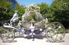 Disney wedding! ohmygod I want this. wait no, Sleeping Beauty is my favorite and she didn't have a carriage