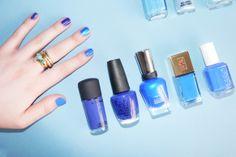 Elizabeth Brockway Blue Nail Polish - Pretty and simple #travel #fashion #beauty