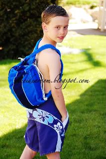 Sew Easy Backpack with matching Towel