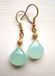 Chacedony Briolette Earrings by fleurdelisjewelry on Etsy