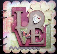 Mini album de MDF LOVE