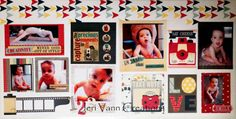 Say Cheese Double Page Layout by design team member Jeri using Modern Miss Bundle by Bo Bunny found at fotobella.com