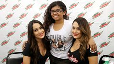 The Bella Twins meet fans in Dallas, courtesy of Mountain Dew.
