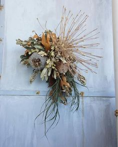 Christmas Wreaths, Xmas, Modern Wreath, Wreaths And Garlands, Dried Flowers, Decoration, Floral Arrangements, Bouquet, Fall