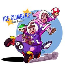 Ice Climbers.(Mario Kart Double Dash; if only this happened.)