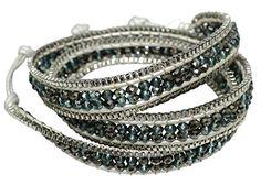 Ivory Leather 3X Wrap Bracelet Bright Blue, Dark Brown Sp... https://www.amazon.com/dp/B00X6DJUI6/ref=cm_sw_r_pi_dp_YUSGxbECHPK0R