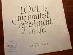 Love, Refreshment, Italic Hand, Pablo Picasso Pablo Picasso, Our Love