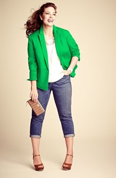 Anne Klein Blazer, DKNYC Top & Two by Vince Camuto Jeans  available at #Nordstrom
